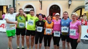 Poljanski tekači z županom Milanom Čadežem